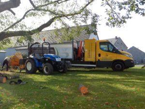 Broyage et évacuation des branches