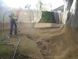 Décompaction du sol sans endommager les racines.